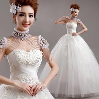 hot sale NEW 2015 lace dress zipper sexy bridal gown wedding dresses  Free shipping 7306 zyy