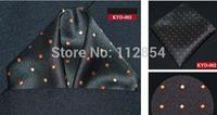 Free Shipping+Wholesale Polka Dot Colors handkerchief Pocket square towel Handkerchiefs,100pcs/lot
