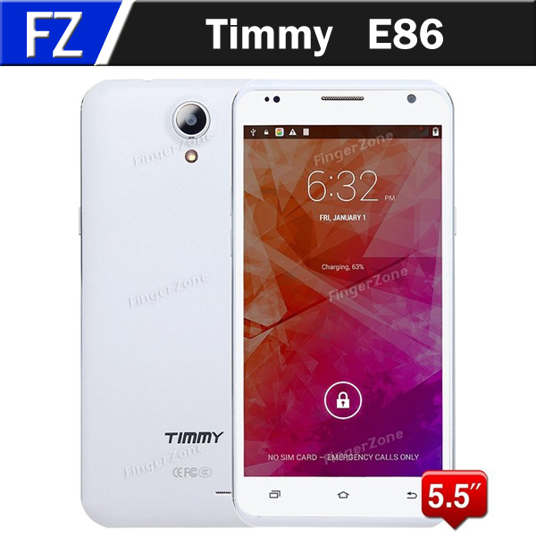"""In Stock Timmy E86 5.5"""" IPS HD Android 4.4 MTK6582 Cheapest Quad Core 3G Mobile Phones 8MP CAM 1GB RAM 8GB ROM Smartphone WCDMA(China (Mainland))"""