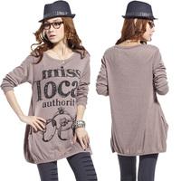 Women Clothing 2015 New Fashion Ladies Blusas Long Sleeve Ring Pring Long Style Desigual Women Casual T Shirt Loose Tops Camisa