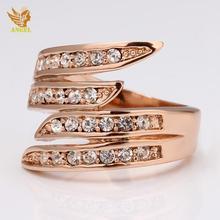 Angel Brand gold ring Love tungsten ring Lovely blue ring
