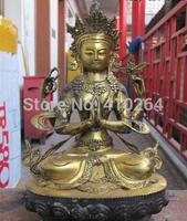"[wholesale_jewelry_wig ] 11""Inch Tibet Buddhist fane bronze Four Armed Bodhisattva Guan-Yin Buddha Statue"