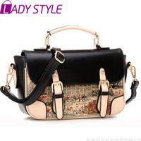 fashion vintage printing women handbag messenger Bags shoulder bags handbags women famous brands new 2015 HL3615
