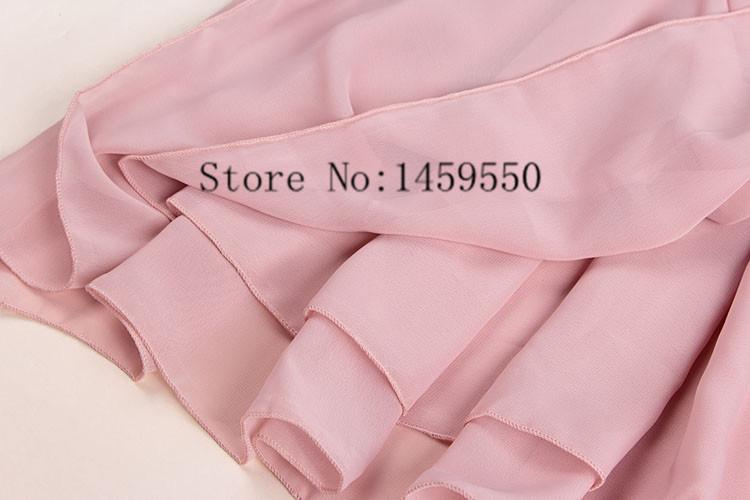 Лето женщины высокая эластичность талия плиссировка мягкий сплошной цвет двойной шифон короткая юбка 20 цвет Saia курта