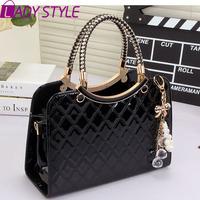 fashion plaid women handbag patent leather messenger Bags shoulder bags handbags women famous brands new 2015 HL3621