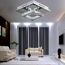 Square LED Crystal Light Chandelier Lighting for Aisle Porch Hallway Stairs wth LED Light Bulb 12 Watt 100% Guarantee(China (Mainland))