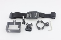 F05740-F Sports Cycling Video Shooting Set: Aluminum Bike Handlebar + Protective Frame + Helmet Strap for Gopro Hero3 3plus 3 FS