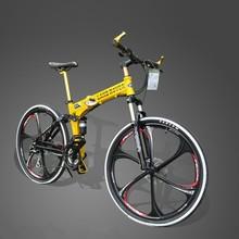 "Factory Sale 26""x18"" Aluminium Folding Mountain Bike Bicycle 21 Speed MTB Bicicleta Disc Brakes Magnesium Wheel Folding Bicycle(China (Mainland))"