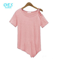 2014 New Brand Summer Women T-shirts Strapless Blouse Pink White Black Tops Plus Size Chiffon Women Cloths T-shirt Blouse T10792