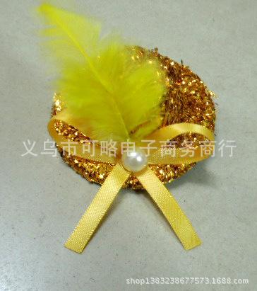 2015Korean hair accessories feather hair ornaments Korean bow hair accessories jewelry small ceremony hat dance performances edg(China (Mainland))