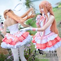 Anime Garage Kits Sword art online Asuna dress cosplay Costumes for women Halloween costumes Kawaii Lolita Dress Free Shipping