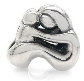 Free Shipping 1Pc Fashion 925 Silver Bead Charm European Silver Mother Kid Bead Charms Fit pandora Bracelet&bangle H429(China (Mainland))