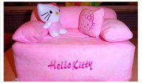 Lovely Cute Sofa Style Hello Kitty Car Room Soft Plush Removable Tissue Case