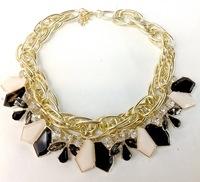 Fashion New 2015 Jewelry Ethnic Flower Shape Imitation Rhinestone Necklace Collar Choker Necklace For Women