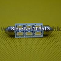 50pcs/lot 2014 NEW products auto led car lighting 12v C5W Festoon 41MM 6 smd 5630smd 6 leds bulb guangzhou factory free shipping