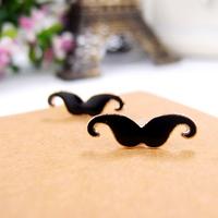 Fashion Jewelry cute sexy Earrings little mustache Stud earrings Free shipping