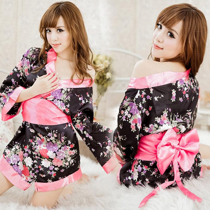 Women's kimono set transparent uniforms temptation to open file perspectivity one piece sleepwear adult supplies baby costume(China (Mainland))
