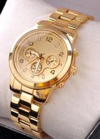 Top Brand Unisex Gold Quartz Dress Watch Stainless Steel Ladies Rhinestone Watches Relogio Feminino Mens wristwatches