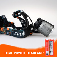 1800 Lumen CREE XM-L T6 Care LED zoom Zoomable Headlight Headlamp +AC Charger+2x18650 3000mAh Battery