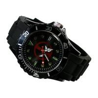 Free Shipping Marvel Super Hero Deadpool Boy Man Metal Black Silicone Watch Wrist