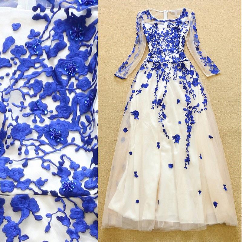 Сшить платье с вышивкой