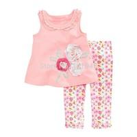 wholesale 6sets/lot 1~6years new 2015 new brand kids summer sets cotton 2pcs set baby girl T-shirts and shorts set 2382#