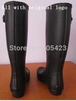 14 Color women men H Original Brand tall style knee high rain boots low heels waterproof welly boots rainboots water shoes