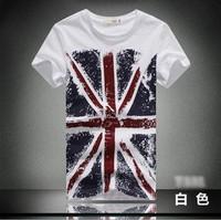 LR200 2015 Man Spring T Shirt Flag Pattern O-neck Casual T-shirt Men clothing Plus Size t shirt M L XL XXL 3XL 4XL Free shipping