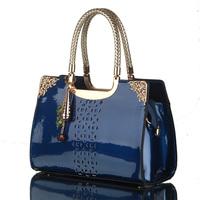 Russia Stock Luxury Womens Handbag Genuine Patent Leather Famous Brand Lady Shoulder Bags Designer Handbags High Quality