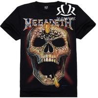 2014 New Popular Famous Brand Cool 3d Printed Size S-XXL Cotton Bullet Devil Men T-Shirt E43 Free Shipping