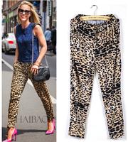 2015 women harem pants size plus leopard trousers