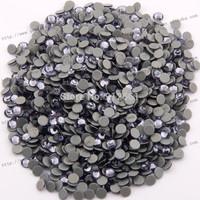 Free shipping(1440pcs per lot)flat back Tanzanite round hot fix ss8 2058HF hot fix rhinestones diy iron crystal rhinestones