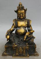 Tibet Tibetan Buddhism Copper Seat Yellow Jambhala Wealth God mouse Statue