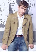 2015 Winter 3 Colors Windbreaker Men's Casual Clothes Jackets Fashion Lapel Cotton Wind Coat Blouson Homme Cortavientos LC12009