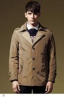 Khaki/Black Turn-down Collar Windproof British Style Soft Shell Reflective Jacket 2015 Mens Winter Coat Chaqueta Belstaf LC12004