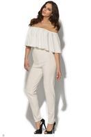 Celebrity Frill White/Black/Blue Jumpsuit LC60013
