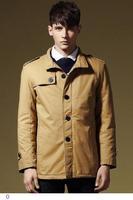 2015 New Fashion Winter Casacos Masculinos Army Green/Black Warm Fleece Lining Windbreaker Mens Casual Coats And Jackets LC12005