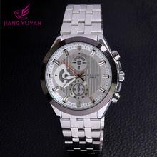 Watch luxury men genuine quartz jewelry Japan movement stainless steel alloy watch
