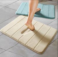 Stripe Coral Fleece Carpet 2 Size Area Rug For Bathroom Kitchen Carpets Non-Slip Door Mat Tapete Alfombra