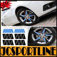Free Shipping 50PCS/SET carbon fiber wheel Cover Sticker ,Auto car wheeling decoration For chevrolet cruze