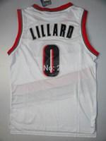 New Material Rip City Portland #0 Damian Lillard New Fabric REV 30 Black White Basketball Jerseys, Cheap Sport Jersey