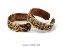 R213  Tibetan brass Vintage silk Ring Tibet Nepal Handmade Tribal open adjustable ring Best offer 10pcs lot