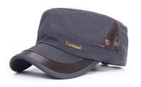 Wholesale Fashion Men Cotton Army Style Hats W/Metal Sports Mens Flex Fit Cadet Cap Trendy Flexfit Military Hat Bulk China Shop