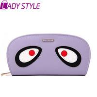 fashion cartoon long women wallets big eyes coin purse day clutch card holders wallet new 2015 HL3606
