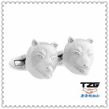 French cufflinks cufflinks silver wolf avatar luxury gift animal series TZG09119(China (Mainland))