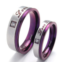 Wholesale Titanium steel set auger A21833 couples ring  men's and women's fashion personality lovers ring