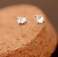 Fashion Round Stud earrings Geometric type Crystal Earrings Jewelry  Free shipping