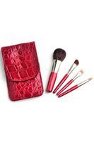 Red 4PCS Brush Set with Alligator Kit Case  LC0249
