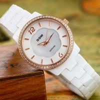 DOM luxury brand women dress watches fashion casual ladies ceramic quartz watch relogio feminino montre femme wristwatch clock
