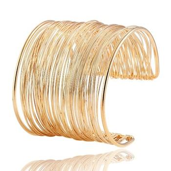 2015 мода панк стиль полые манжеты ретро кос золотые браслеты для женщин шарм урожай ...